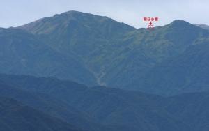 朝日岳と朝日小屋