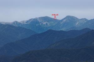 白馬岳と白馬山荘