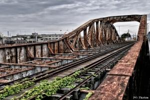 錆びた鉄橋の向こうはアメリカ