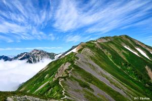 小蓮華山の稜線