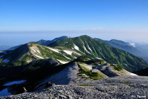 目標の山々