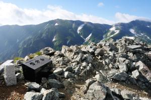 雪倉岳山頂