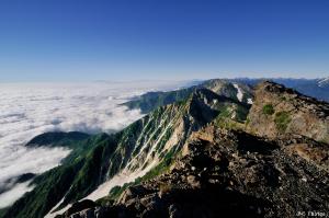白馬岳山頂からの眺め