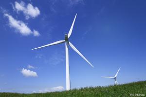 山の上の風力発電所
