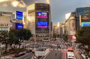 昨日の渋谷交差点